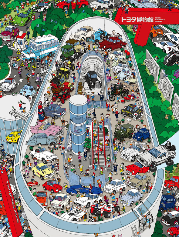 Toyota Automobile Museum cartoon