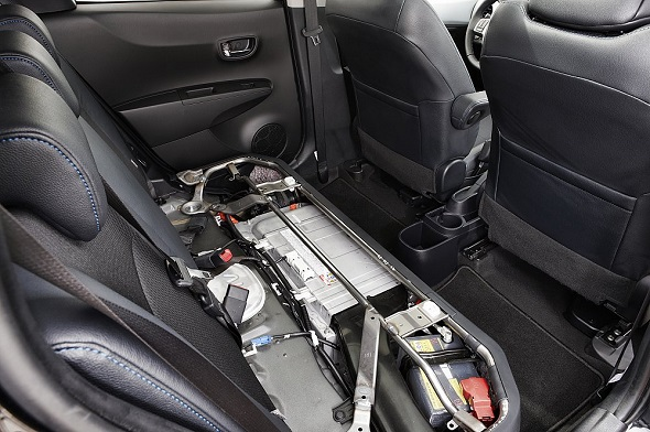 Yaris Hybrid's under-seat battery pack