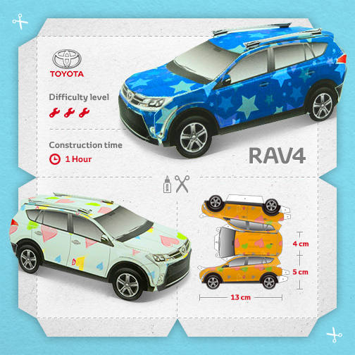 Toyota RAV4 Papercraft Build Your Own