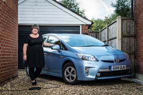 Tanya Burrow and Toyota Prius Plug-in
