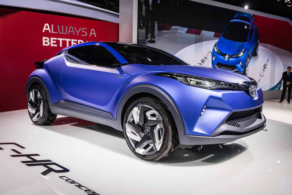Toyota C-HR on the Toyota stand