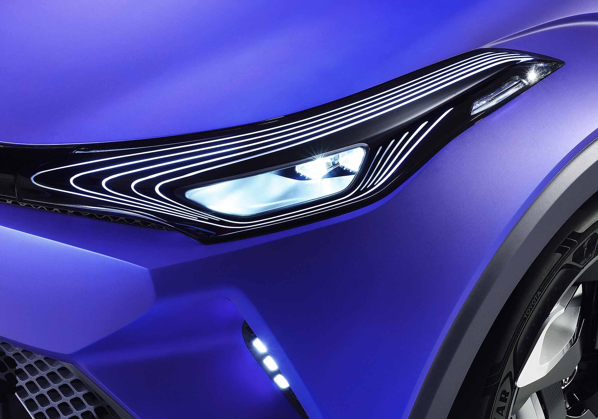 Toyota C-HR headlight detail