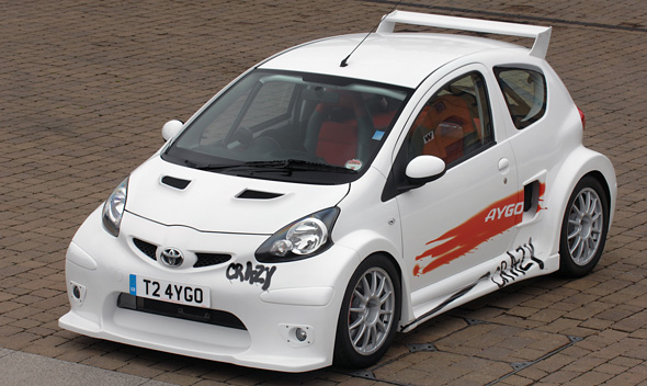 toyota aygo crazy and corolla gt coupe at goodwood 39 s hot hatch sunday toyota. Black Bedroom Furniture Sets. Home Design Ideas