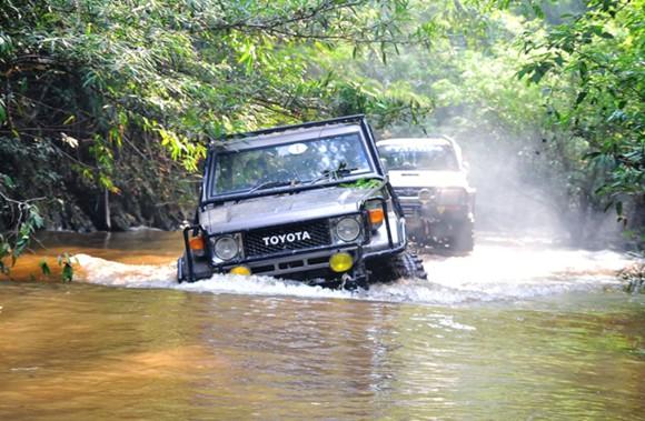 Land Cruiser swamp