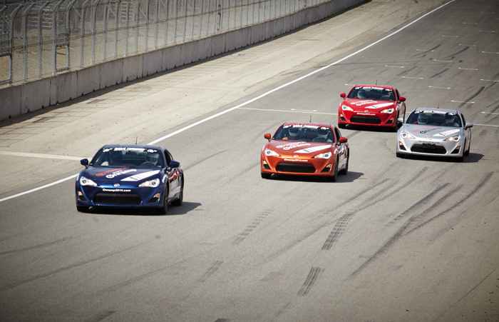 FR-S cars on track Onramp Event Laguna Seca 7.28.14