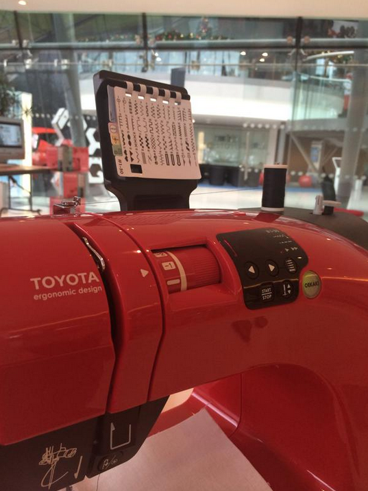 Toyota sewing portrait