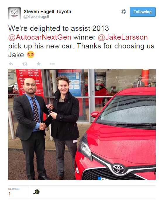 Jake Larsson Yaris