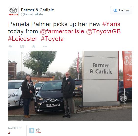 Pamela Palmer Yaris