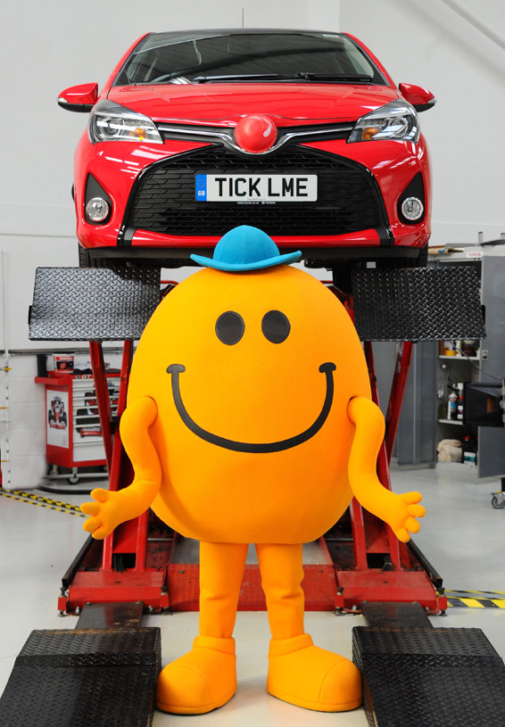 Mr Tickle and Toyota ticklish car 002566