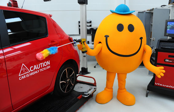 Mr Tickle and Toyota ticklish car 007566