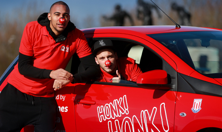 Stoke City players Marko Arnautovic and Steven Nzonzi