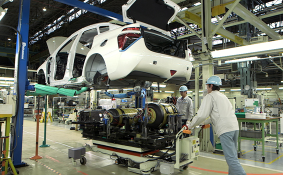 Toyota Mirai production line