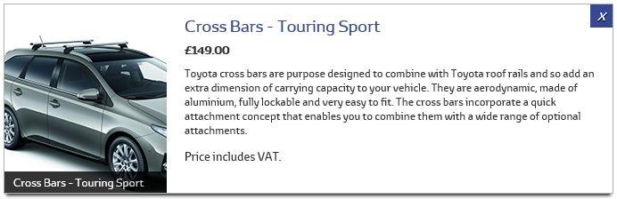 Cross bars 10