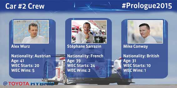 #Prologue2015 - Car #2 Crew