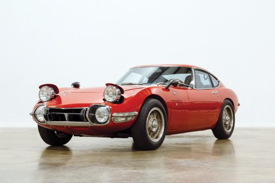 Toyota 2000GT at Amelia Island - front view