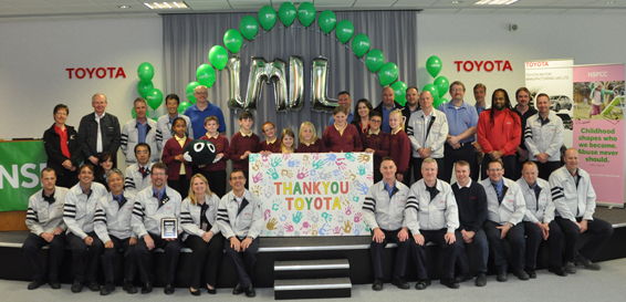 Toyota raise £1 million for NSPCC