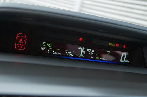 Prius Plus 2012 central screen
