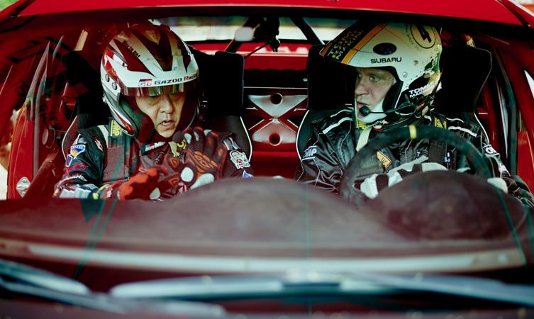 Akio Toyoda and Tommi Mäkinen
