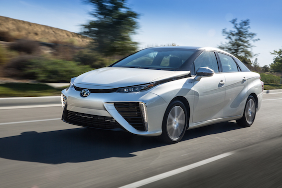 Toyota Mirai driving