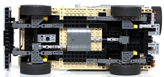 Lego Land Cruiser Chassis detail
