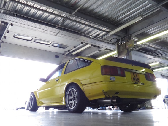 AE86 Corolla track Rockingham