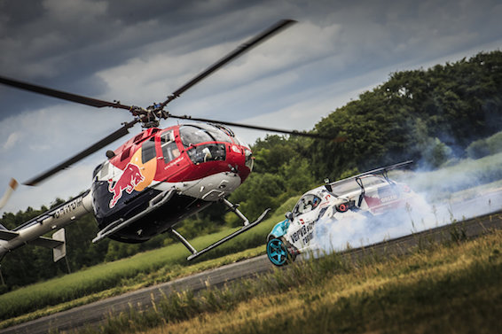 Jakub Przygoński and Felix Baumgartner Red Bull Heli Drift