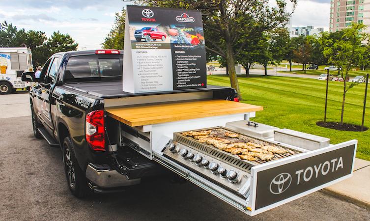 Toyota Tundra BBQ grill