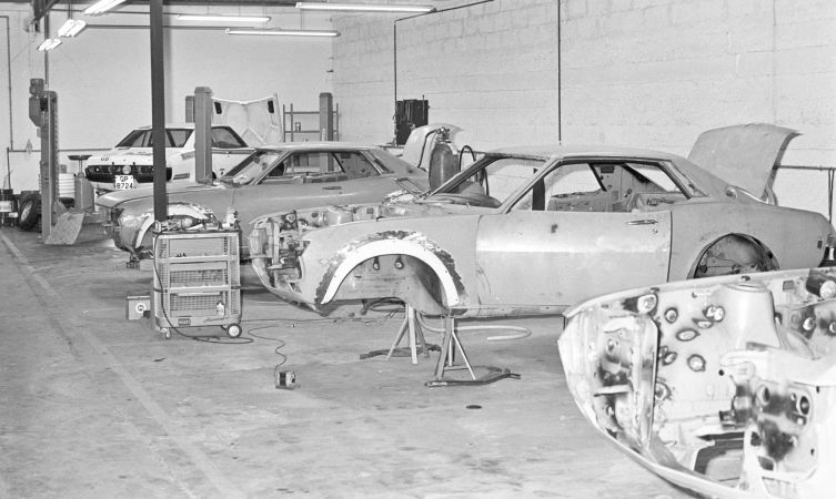Earlys days of TTE. Original Celicas for RAC Rally 1975.