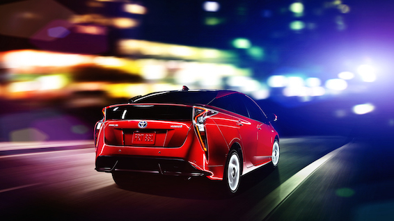 New Toyota Prius rear view