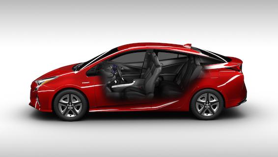 2016 New Toyota Prius profile cutaway