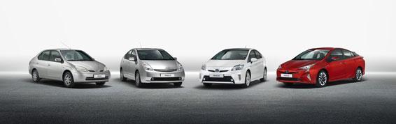4 generations of Prius