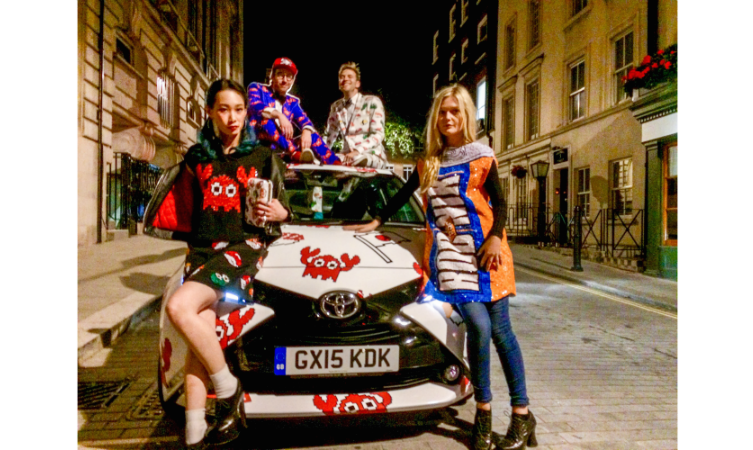 The Rodnik Band Toyota Aygo for London Fashion Week