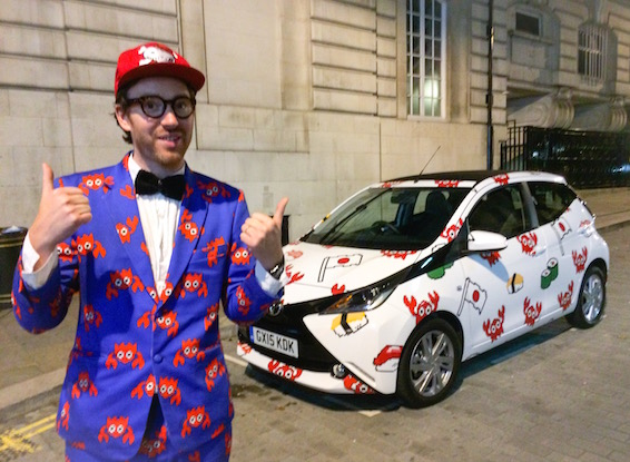 Philip Colbert The Rodnik Band Toyota Aygo for London Fashion Week