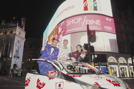 Toyota Aygo by The Rodnik Band at Picadilly Circus