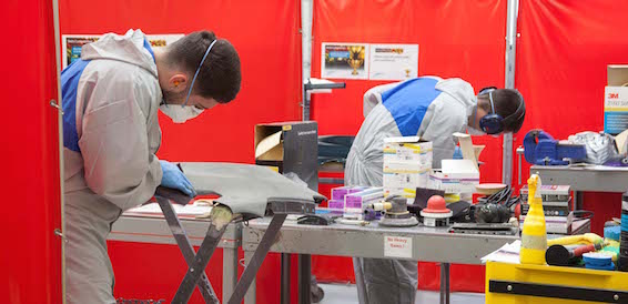 Toyota Apprentice of the Year competition 2015 panel repair