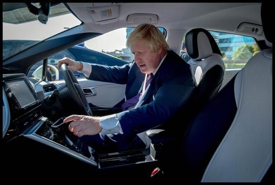 Boris Johnson in the Mirai
