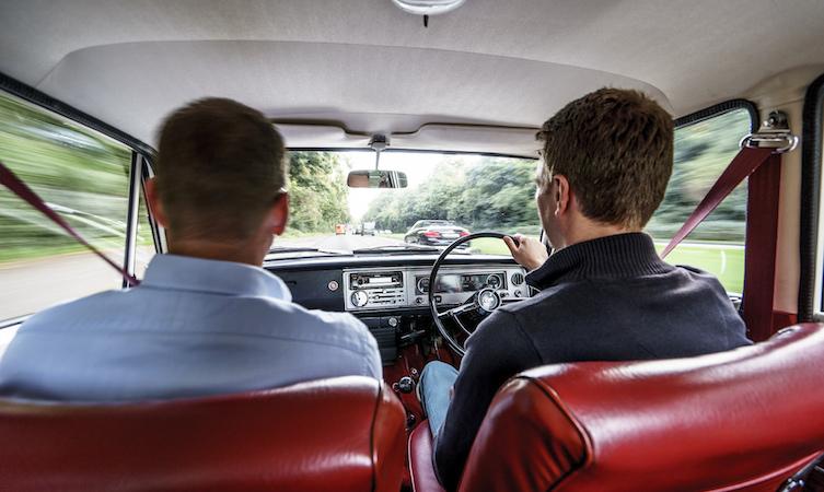 Toyota Corona driving