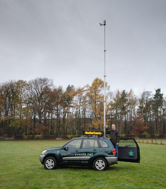 Graham Smith Toyota RAV4 weatherevents.net mast