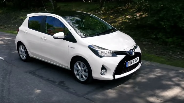 New Yaris with Daytime Running Lights