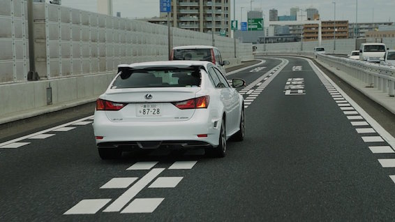 Toyota automated driving test Lexus GS