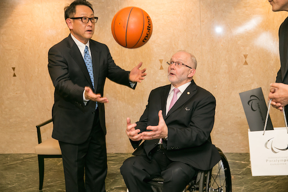 Toyota Paralympic Games sponsor Akio Toyoda Sir Philip Craven
