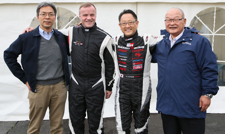 Tommi Makinen and Akio Toyoda