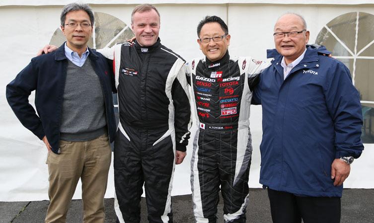 Tommi Makinen and Akio Toyoda