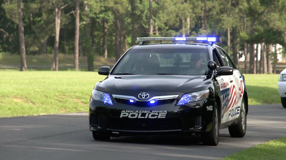 Arkadelphia Police Department Toyota Camry Hybrid driving