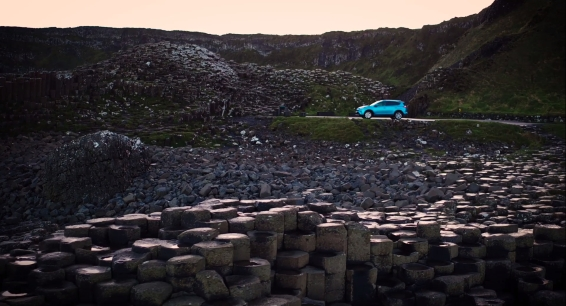 RAV4 Hybrid at the Giant's Causeway