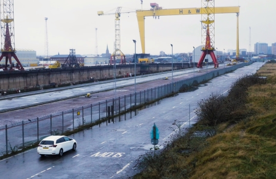 Auris Hybrid Touring Sports at Harland and Wolff