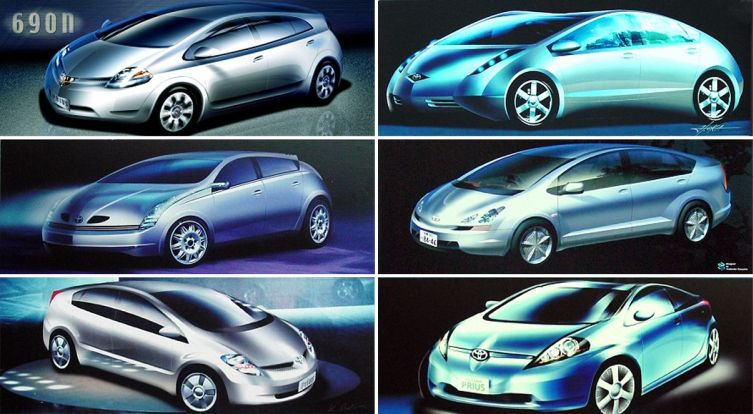 Prius 2 design sketches