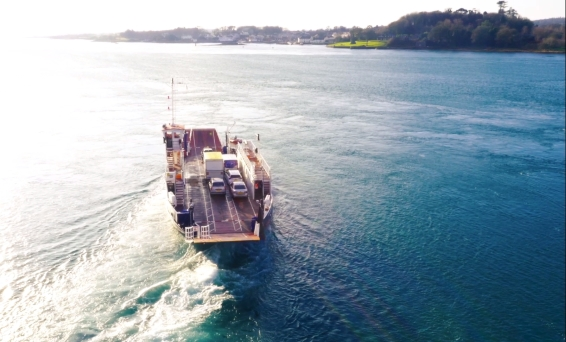 Auris Hybrid Touring Sports on the Strangford Lough Ferry