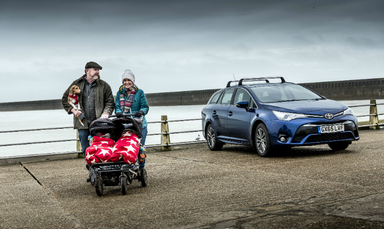 Billy's Britain Toyota Avensis at seaside