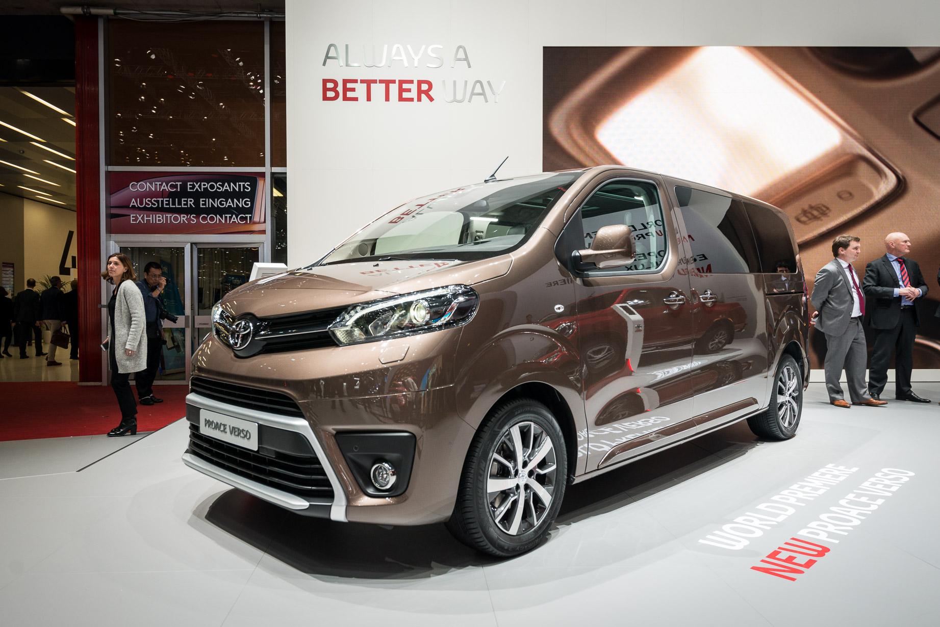 Toyota Proace Verso Geneva motor show